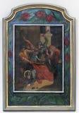 7ème Gares de la croix, automnes de Jésus la deuxième fois Image libre de droits