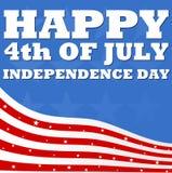 4ème heureux du Jour de la Déclaration d'Indépendance de juillet Photo libre de droits