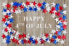 4ème heureux du message de juillet Photo libre de droits