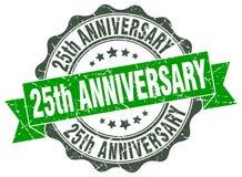25ème joint d'anniversaire estampille illustration de vecteur
