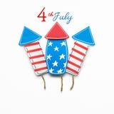 4ème juillet heureux Image stock