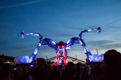 27ème le juin, 2015 Festival de Glastonbury L'araignée d'Arcadie au Ni photographie stock libre de droits