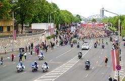 24ème marathon de Nordea Riga Images libres de droits