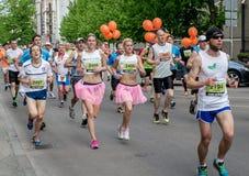 24ème marathon de Nordea Riga Image stock