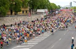 24ème marathon de Nordea Riga Photo libre de droits