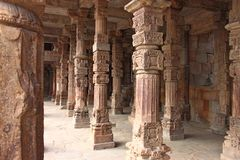 2ème minar le plus grand de Qutb Minar à Delhi Photographie stock libre de droits