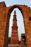 2ème minar le plus grand de Qutb Minar à Delhi Images libres de droits