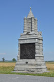 6ème monument de calvaire de New York à Gettysburg, Pennsylvanie Photographie stock libre de droits