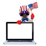 4ème oh chien de juillet Images libres de droits