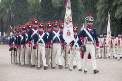 6ème période de Saboya de régiment d'infanterie habillée Image libre de droits