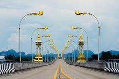 3ème pont d'amitié du Thaïlandais-Laotien, Thaïlande Image libre de droits