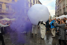 30ème rue - festival international des théâtres de rue à Cracovie, Pologne images stock