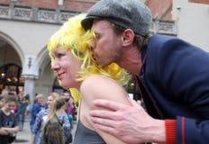 30ème rue - festival international des théâtres de rue à Cracovie, Pologne photos libres de droits