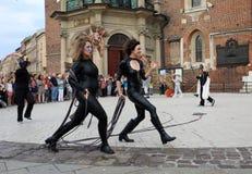 30ème rue - festival international des théâtres de rue à Cracovie, Pologne photographie stock