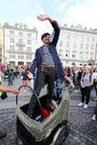 30ème rue - festival international des théâtres de rue à Cracovie, Pologne photo stock