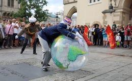 30ème rue - festival international des théâtres de rue à Cracovie, Pologne images libres de droits