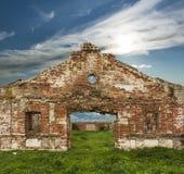 19ème siècle délabré de ferme de goujon Images stock