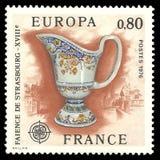 18ème siècle de faïence de Strasbourg image stock