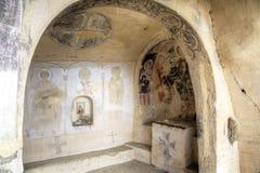 13ème siècle de peinture murale, monastère de David Gareja et d'Udabno photos libres de droits