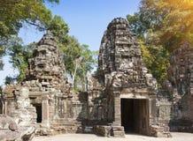12ème siècle de Preah Khan Temple dans Angkor Vat, Siem Reap, Cambodge Image libre de droits