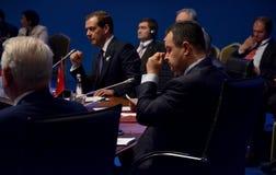 25ème sommet d'anniversaire de la coopération économique BSEC de la Mer Noire Images libres de droits