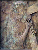 2ème station de la croix Image stock