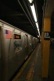 23ème station de métro de rue - Manhattan Photographie stock