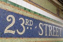 23ème station de métro de rue Images libres de droits