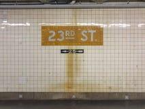 23ème station de métro de rue Photo libre de droits