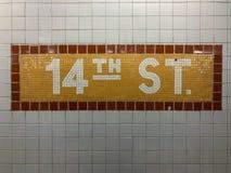 14ème station de métro de rue Photo stock