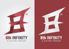8ème symbole d'icône d'infini d'une lettre numéro 8 d'alphabet Photographie stock libre de droits