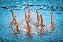 15ème techn de natation de syncro de championnat du monde de Fina Image libre de droits