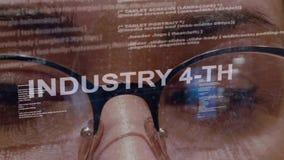 4ème texte d'industrie sur le programmateur de logiciel femelle clips vidéos