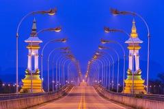 3ème thaïlandais - pont laotien d'amitié en Thaïlande Images libres de droits