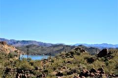 4ème tour annuel de moto pour les chevaux sauvages de la rivière Salt, Arizona, Etats-Unis photographie stock
