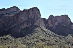 4ème tour annuel de moto pour les chevaux sauvages de la rivière Salt, Arizona, Etats-Unis photos libres de droits