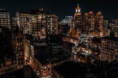 14ème Union Square vue de bâtiment et de rue de Nyc Photographie stock
