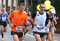 28ème Venicemarathon : le côté amateur Images stock