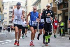 28ème Venicemarathon : le côté amateur Image stock