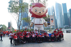8èmes jeux 2015 de mer d'ASEAN Para de M. Baey Yam Keng Images libres de droits