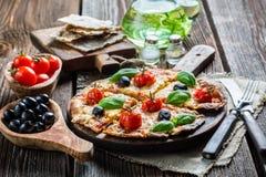 6èmes légumes de pizza fraîche Photo libre de droits