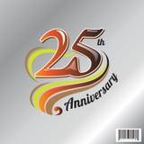 25èmes logo d'anniversaire et conception de symbole Photographie stock