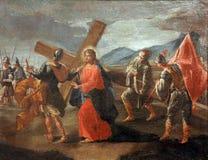 5èmes stations de la croix Images stock
