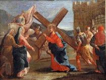 4èmes stations de la croix Images libres de droits