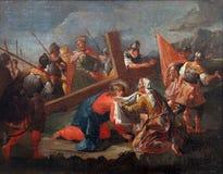 6èmes stations de la croix Image libre de droits