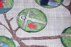 11èmes stations de la croix, crucifixion : Jésus est cloué à la croix Photographie stock