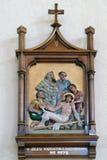 11èmes stations de la croix, crucifixion : Jésus est cloué à la croix Image libre de droits