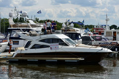5èmes yachts et bateaux justes à Moscou, Russie Images stock