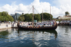 Ère antique de Viking de bateau Oslo norway Photographie stock