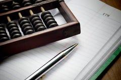 Ère de comptables avant système numérique Photographie stock